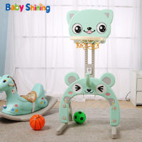 Регулируемый стенд игрушка (футбольные ворота + баскетбольное кольцо) для маленьких детей