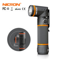 NICRON N72 ультра-яркий светодиодный вращающийся водонепроницаемый фонарик 3 режима 300LM