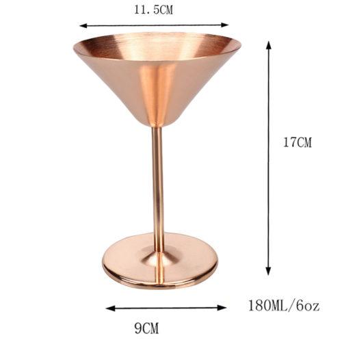 Медный бокал для мартини из нержавеющей стали