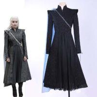 Косплей черное платье Дейенерис Таргариен (Daenerys Targaryen) из сериала Игра престолов
