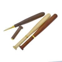 Деревянные шариковые ручки в виде бит 3 шт.