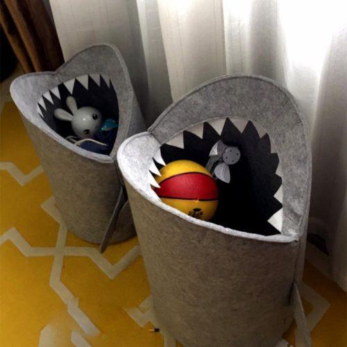 Корзина для хранения детских игрушек или грязного белья в форме акулы