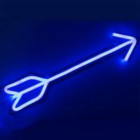 Неоновая синяя светодиодная стрела от лука