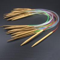 Набор из 18 круговых бамбуковых спиц разного диаметра