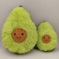 Мягкая плюшевая зеленая подушка игрушка в виде авокадо