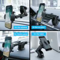 RAXFLY Универсальный держатель для телефона на присоске в автомобиль на лобовое стекло или приборную панель