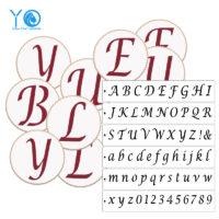 Трафареты для пряников буквы английского алфавита