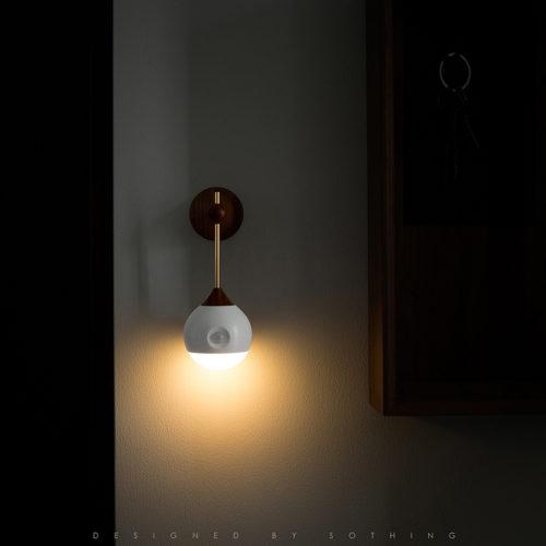 Умный ночник зарядка Xiaomi Mijia Sothing Night Light со съемным световым элементом, датчиком движения