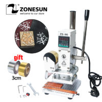 ZONESUN ZS90  Станок горячего тиснения на коже, бумаге, ткани, древесине,