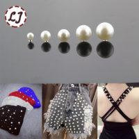 Жемчужные заклёпки бусины для одежды 30 шт. (разный размер)