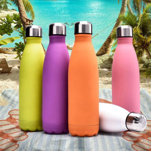 Красивая легкая бутылка-термос из нержавеющей стали 500/1000 мл