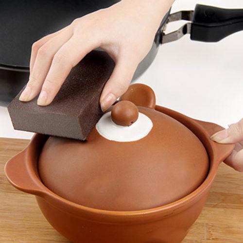 Губка для удаления ржавчины с посуды