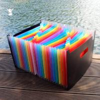 Разноцветный органайзер папка для бумаг