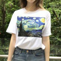 Женская белая футболка с картинами Ван Гога