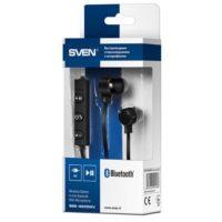 SVEN SEB-B265MV Беспроводные черные шейные внутриканальные Bluetooth наушники с микрофоном
