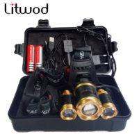 Litwod Z20 Светодиодный аккумуляторный налобный водостойкий мощный фонарь 13000 люмен