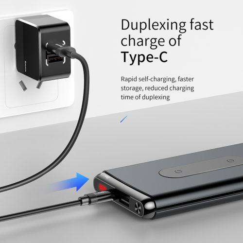 Baseus Портативное зарядное устройство power bank с функцией быстрой беспроводной зарядки 10000 мАч