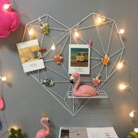 Металлическая решетка сетка в виде сердца на стену 51×50 см