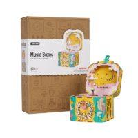 Музыкальная детская деревянная DIY шкатулка Собери сам