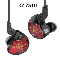 KZ ZS10 4BA+1 DD гибридные вакуумные стерео Hi-Fi наушники гарнитура с микрофоном