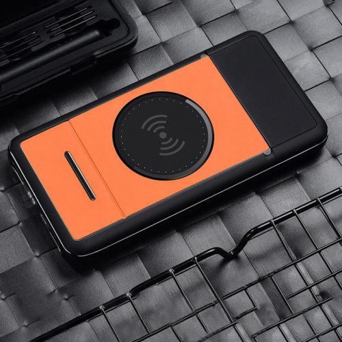 FT портативное зарядное устройство power bank для беспроводной зарядки 10000 мАч + подставка для смартфона