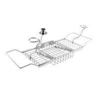 Металлический регулируемый столик-подставка в ванную для ноутбука, чтения книг