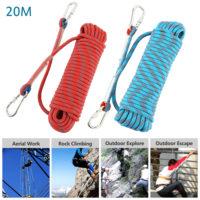 Веревка для скалолазания с карабинами (длина 20 м, диаметр 10 мм)