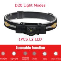 BORUiT XM-L2 LED Светодиодный аккумуляторный налобный водонепроницаемый фонарик