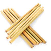 Натуральные многоразовые бамбуковые соломки-трубочки 5 шт.