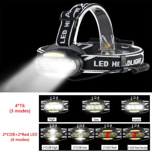 POCKETMAN Светодиодный аккумуляторный налобный водонепроницаемый мощный фонарик с зумом 30000 люмен