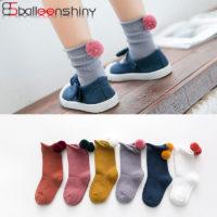 Детские носки с помпоном сзади для маленьких мальчиков и девочек