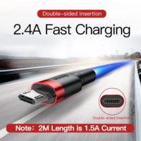 Реверсивный кабель microUSB от Baseus 0.5/1/2 м