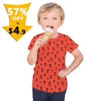 Детская белая или красная футболка на мальчика с Микки Маусом