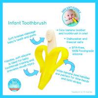 Детская зубная щетка в виде банана
