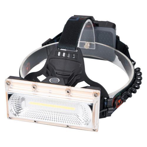 Sanyi Светодиодный аккумуляторный налобный водостойкий мощный COB фонарь