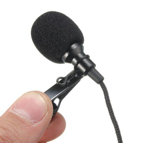 LEORY Всенаправленный металлический микрофон с зажимом 2,5 м