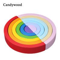 Candywood набор деревянных радужных блоков