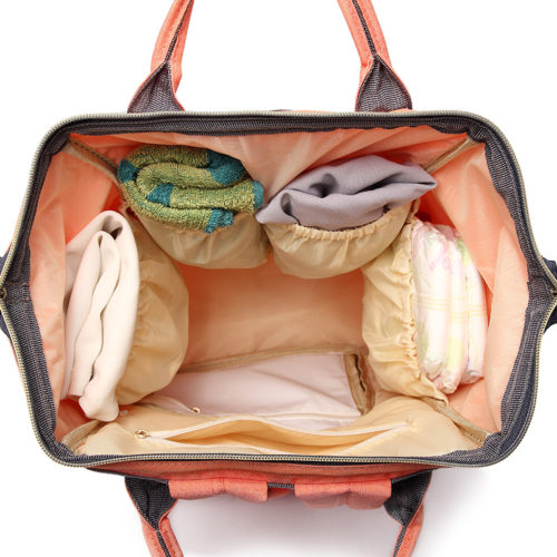 Рюкзак-сумка для молодой мамы и малыша с карманами для бутылочек, пеленок и подгузников
