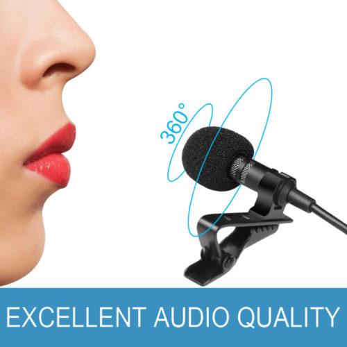 Overfly Всенаправленный проводной микрофон с зажимом