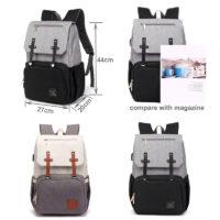 Водонепроницаемый рюкзак для молодой мамы с термоотделением, креплением на коляску и USB подогревом бутылочек