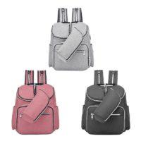 Рюкзак для молодой мамы с термоотделением, креплением на коляску, маленькой сумочкой для бутылочки и USB