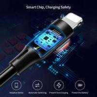 Lighting USB кабель от Raxfly для зарядки и передачи данных на iPhone/iPad