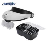 Aomekie Увеличительные очки с подсветкой и бипластинчатыми сменными линзами