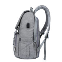 Рюкзак трансформер с USB для молодой мамы с раскладывающейся задней стенкой в пеленальный столик и креплением на коляску