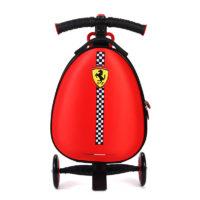 Детский самокат Феррари с чемоданом
