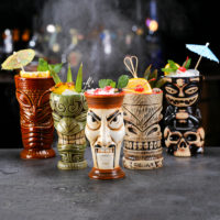 Стаканы для коктейлей в виде тотемов