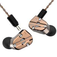 Revonext QT5 1DD + 1BA Гибридные наушники гарнитура с микрофоном