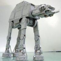 Бумажные 3D пазлы конструктор AT-AT Имперский шагоход из Star Wars (Звездные войны)