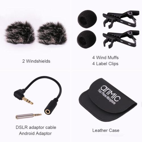 Ulanzi AriMic Dual-Head Lavalier Петличный двойной микрофон 6 м для лекции или интервью