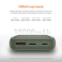 ROCK PD QC 3,0 Mini power bank Dual USB портативное мини зарядное устройство 10000 мАч с функцией быстрой зарядки